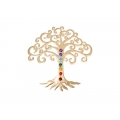 Metal Tree of Life & Chakra Gemstones Wall Plaque